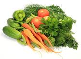 Fresh vegetables on white — Stock Photo