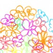 The drawn flowers — Stock Photo