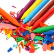 Color wax pencils — Foto Stock