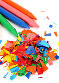 Color wax pencils — Stock Photo