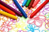 Crayons de cire de couleur — Photo