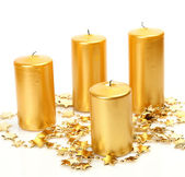New Year's candles — Stock Photo