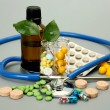 Stock Photo: Tablets for treatment of illness