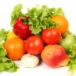 Stock Photo: Ripe fruit and vegetables