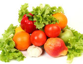 Ripe fruit and vegetables — Stock Photo