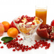 Foto de Stock  : Ripe fruit and juice