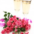 Wine and pink roses — Stock Photo #39484717