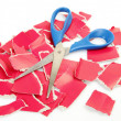Cardboard and scissors — Stock Photo #39485179