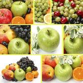 Ripe fruits collage — Stock Photo