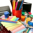 Color pencils and paints — Stock Photo #39942569