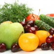 Stock Photo: Ripe fruits, vegetables and berries