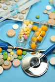 Tablets for treatment of illness — Stock Photo