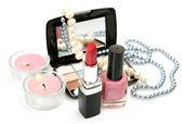 Gioielli e cosmetici decorativi — Foto Stock