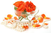 Roses and pearls — Foto Stock