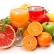 Stock Photo: Fresh fruit and juice