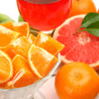 Stock Photo: Juice and fruit