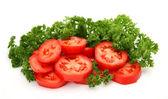 Fresh sliced tomatoes — Stock Photo