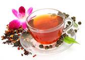 Tea and flower — Zdjęcie stockowe