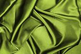 Green silk — Stock Photo