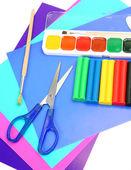 油漆和橡皮泥 — 图库照片