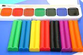 Paints and plasticine — Stock Photo