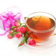 Tea and roses — Stock Photo #43586819