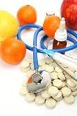 Soggetti per il trattamento e frutta — Foto Stock