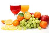 Juice and fruit — Stock Photo