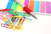 The handle and paper clips — Stock Photo