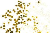 Złotym konfetti — Zdjęcie stockowe