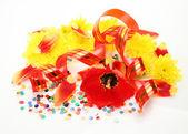 Tulipan i chorągiew — Zdjęcie stockowe