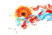 Streamer and confetti — Stock Photo