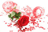 Fine rose and tape — Stock Photo