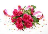 Róże i chorągwi — Zdjęcie stockowe