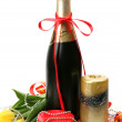 Champagne and tulips — Stock Photo #45723223