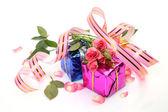 Boxen mit geschenken — Stockfoto