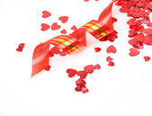 Confetti and streamer — Stock Photo