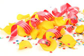 Confetti en streamer — Stockfoto
