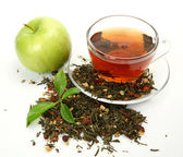 Tea and apple — Stock Photo