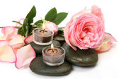 Roseі and candles — Stock Photo