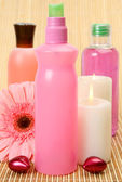 Lotions in bottles — Stock Photo