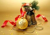 Silvester dekoration — Stockfoto