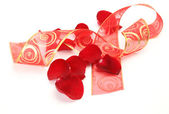 Petals and tape — Stock Photo