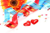 Two hearts decorations — Stock Photo