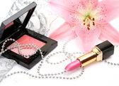 用的化妆品dekorativt smink för — Stockfoto