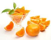 Ripe tangerine fruits — Stock Photo