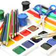 Brushes, paints and pencils — Stock Photo #50616471