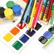Brushes, paints and pencils — Stock Photo #50616509