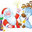 Royalty-Free Stock Photo: Santa Clause and Reindeer