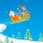 Santa Claus and Reindeer — Stock Photo #13614749